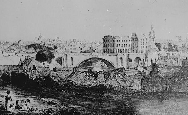 Bridging the Denburn. © Aberdeen City Council