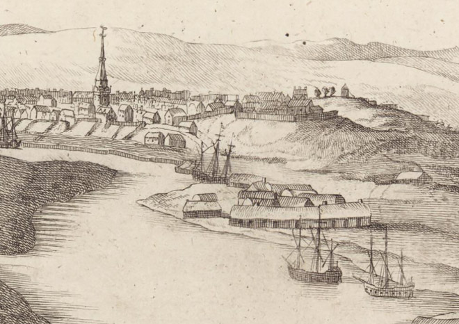 Slezer's View of New Aberdeen 1693. Reproduced by permission of the Trustees of the National Library of Scotland