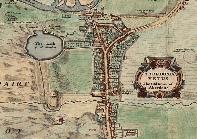 1661 Parson Gordon Map. Reproduced by permission of the Trustees of the National Library of Scotland